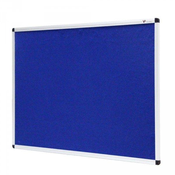 Blue Felt Noticeboard Aluminium Frame-0