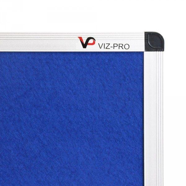 Blue Felt Noticeboard Aluminium Frame-140