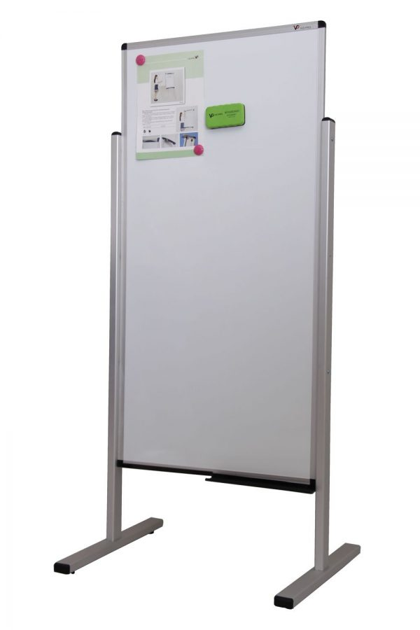 Double-Sided Magnetic Mobile Whiteboard 1200x600mm-0