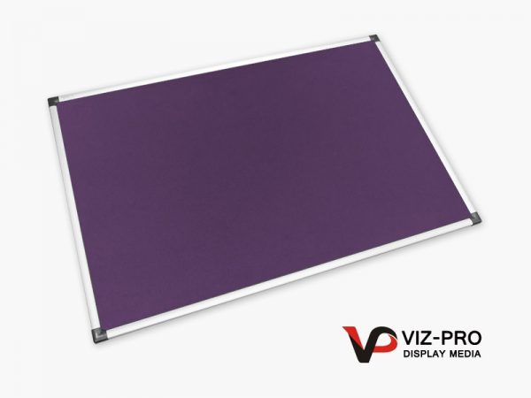 Variety Colours of Felt Noticeboard Aluminium Frame - Class 1 Fire Rated-0