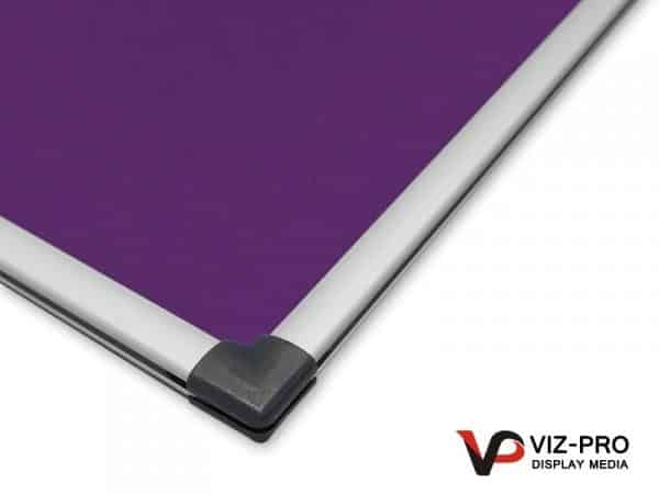Variety Colours of Felt Noticeboard Aluminium Frame - Class 1 Fire Rated-128