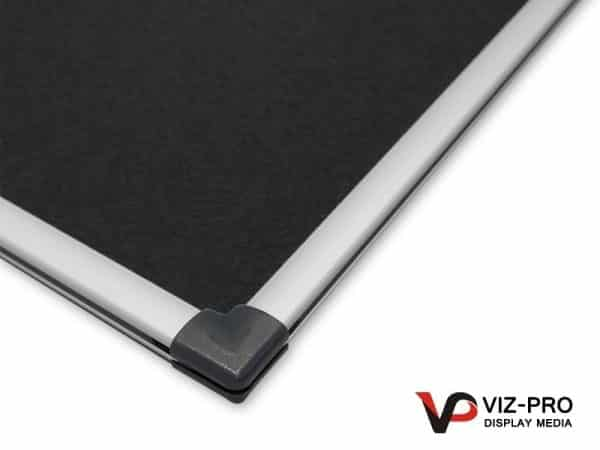 Variety Colours of Felt Noticeboard Aluminium Frame - Class 1 Fire Rated-129