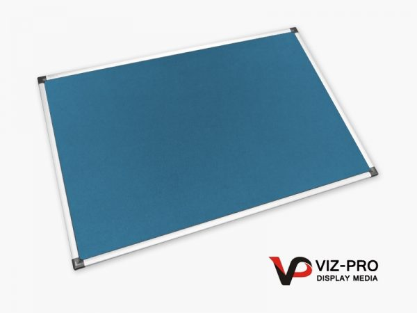Variety Colours of Felt Noticeboard Aluminium Frame - Class 1 Fire Rated-86