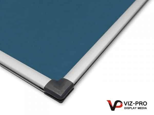 Variety Colours of Felt Noticeboard Aluminium Frame - Class 1 Fire Rated-130