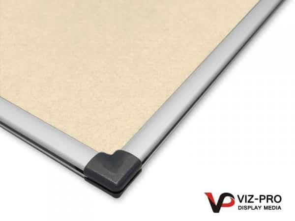 Variety Colours of Felt Noticeboard Aluminium Frame - Class 1 Fire Rated-131