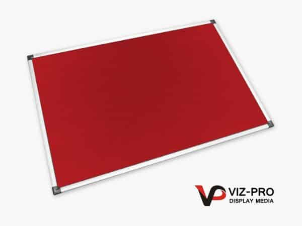 Variety Colours of Felt Noticeboard Aluminium Frame - Class 1 Fire Rated-88