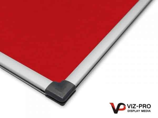 Variety Colours of Felt Noticeboard Aluminium Frame - Class 1 Fire Rated-133