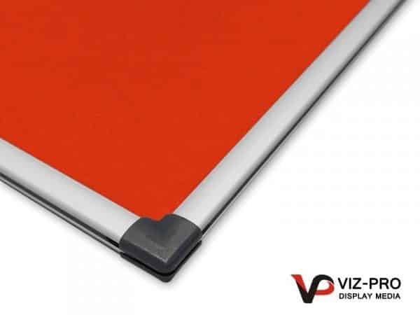 Variety Colours of Felt Noticeboard Aluminium Frame - Class 1 Fire Rated-134