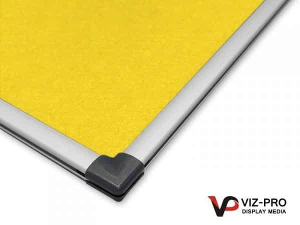 Variety Colours of Felt Noticeboard Aluminium Frame - Class 1 Fire Rated-137