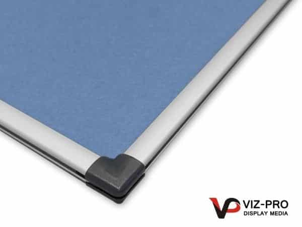 Variety Colours of Felt Noticeboard Aluminium Frame - Class 1 Fire Rated-135