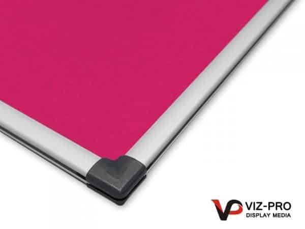 Variety Colours of Felt Noticeboard Aluminium Frame - Class 1 Fire Rated-136