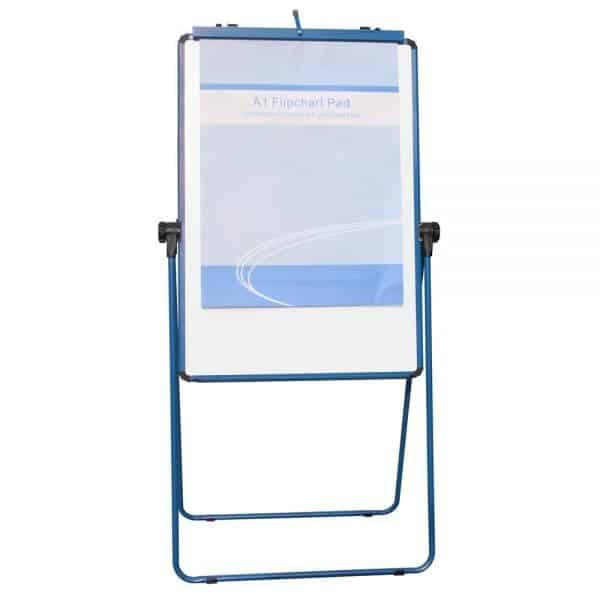 Blue U-Stand Whiteboard/Flipchart Easel, 70 X 90 cm-97
