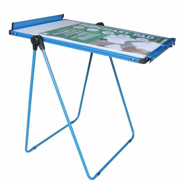 Blue U-Stand Whiteboard/Flipchart Easel, 70 X 90 cm-98