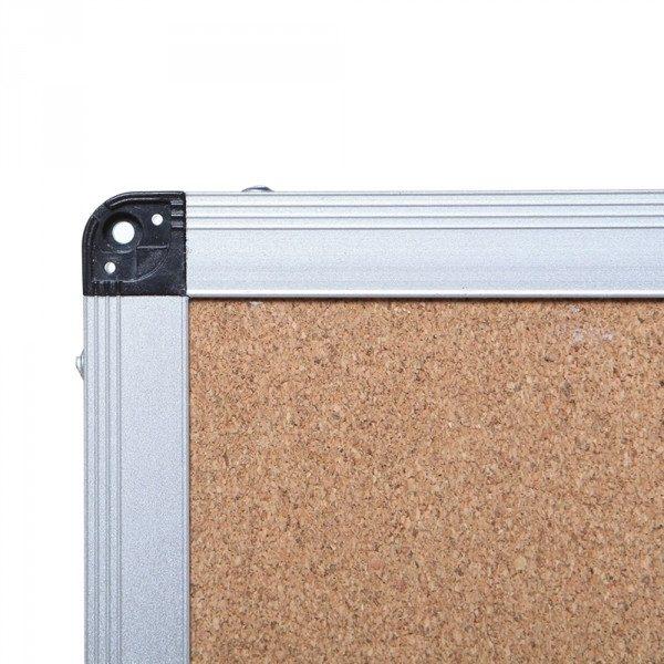 Cork Notice Board, Silver Aluminium Frame-116