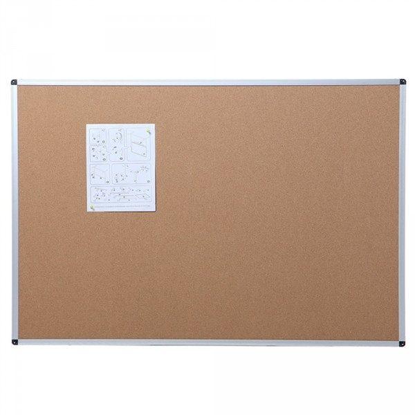 Cork Notice Board, Silver Aluminium Frame-0