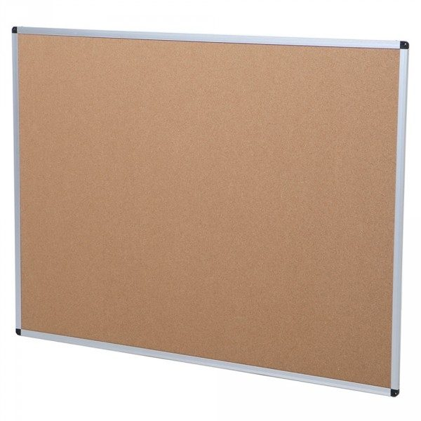 Cork Notice Board, Silver Aluminium Frame-114
