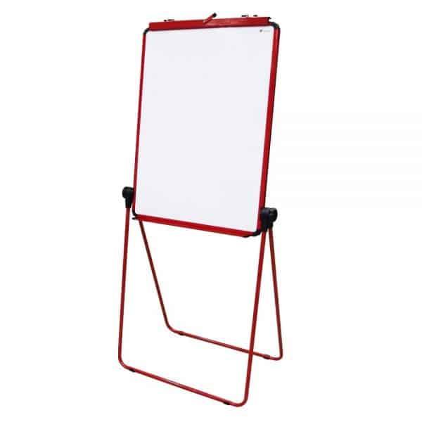 Red U-Stand Whiteboard/Flipchart Easel, 70 X 90 cm-0