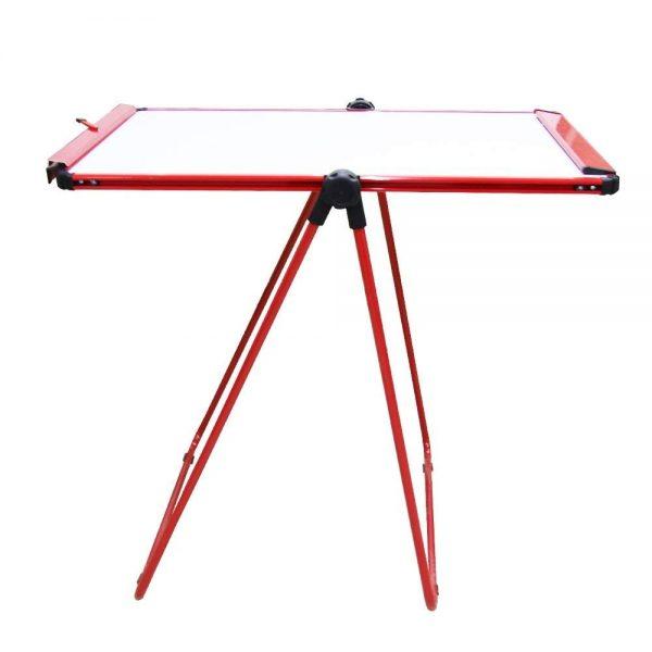 Red U-Stand Whiteboard/Flipchart Easel, 70 X 90 cm-104