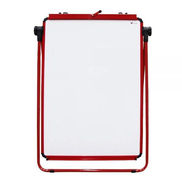 Red U-Stand Whiteboard/Flipchart Easel, 70 X 90 cm-105