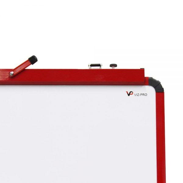 Red U-Stand Whiteboard/Flipchart Easel, 70 X 90 cm-106