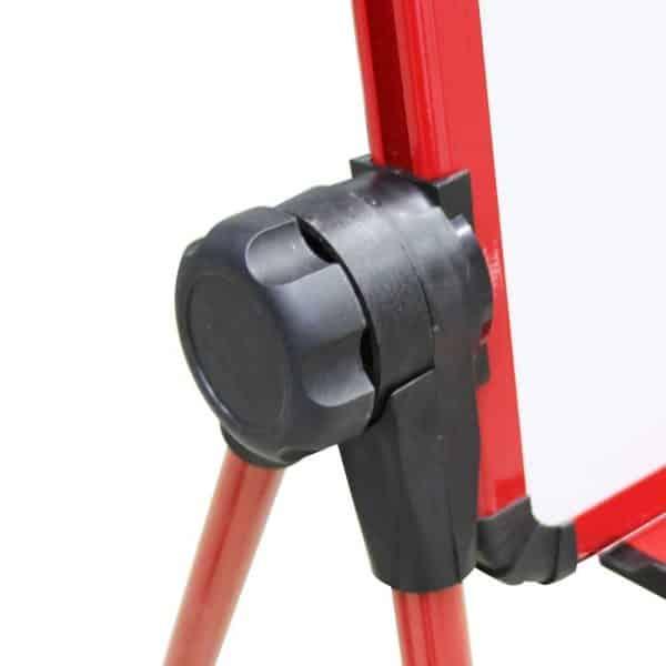 Red U-Stand Whiteboard/Flipchart Easel, 70 X 90 cm-107