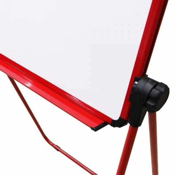 Red U-Stand Whiteboard/Flipchart Easel, 70 X 90 cm-108